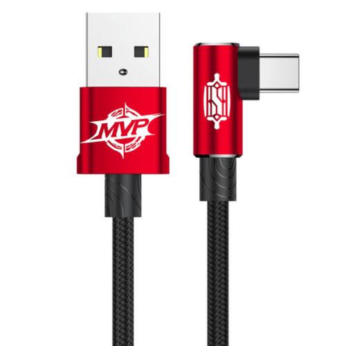 BASEUS USB kabel typ C - 100cm a 200cm - červený