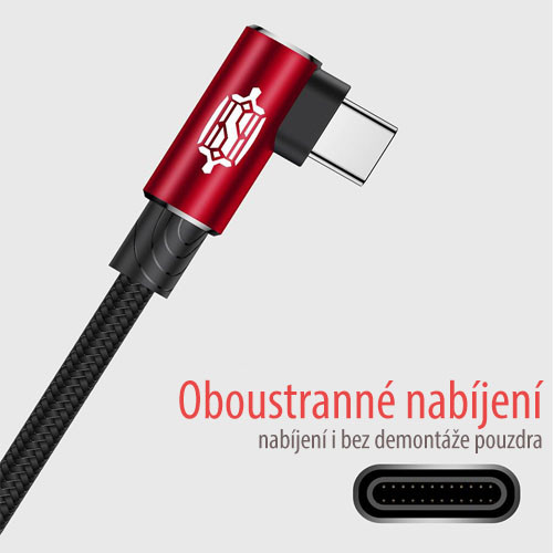 BASEUS USB kabel typ C – 100cm a 200cm – info detail