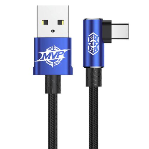 BASEUS USB kabel typ C - 100cm a 200cm - modrý
