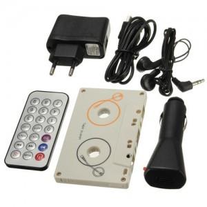 Kazetový přehrávač MP3 s dálkovým ovladačem pro SD karty obsah balení