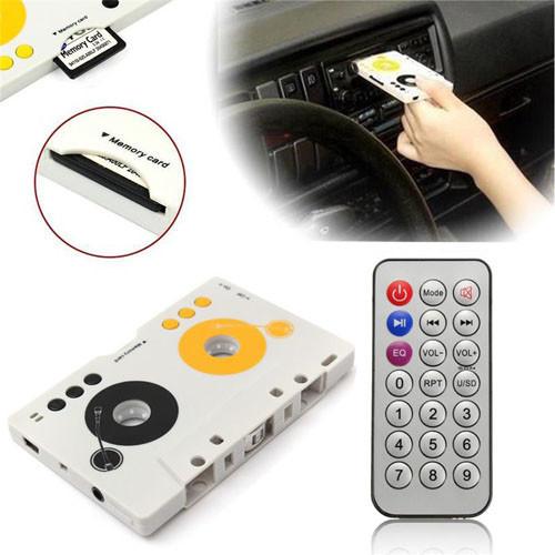 Kazetový přehrávač MP3 s dálkovým ovladačem pro SD karty použití