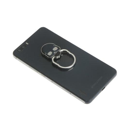 Ozdoba na mobil Lebka černá na telefonu