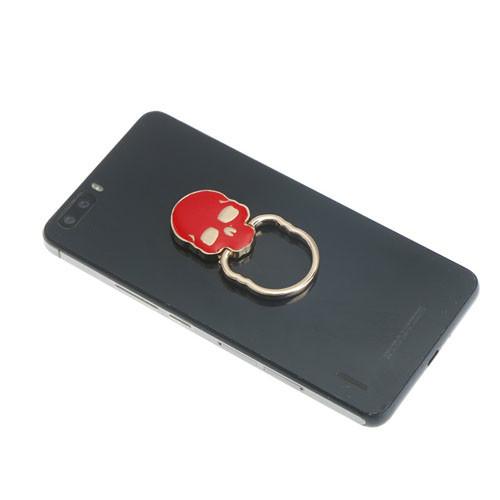 Ozdoba na mobil Lebka červená na telefonu
