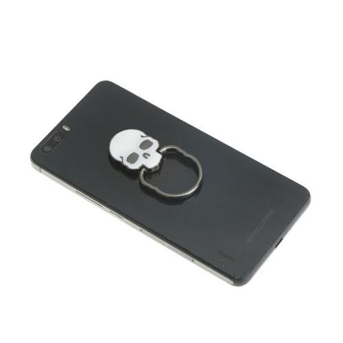 Ozdoba na mobil Lebka bílá na telefonu