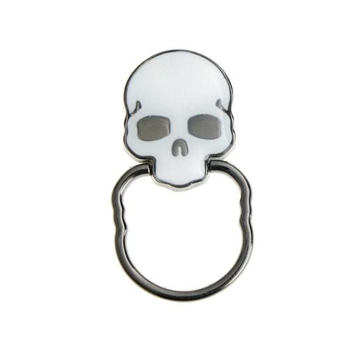 Ozdoba na mobil Lebka bílá s prstenem