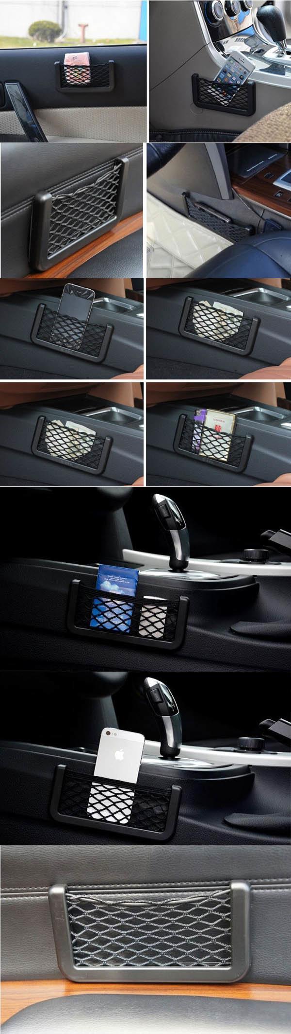 Síťová kapsa do auta na mobilní telefon - použití