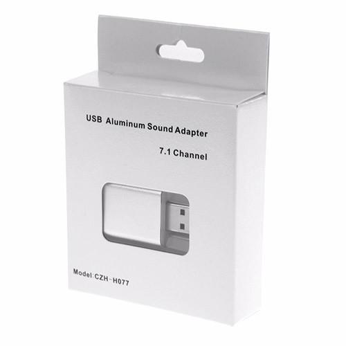 Stereo audio zvukový adaptér USB - VODOOL balení