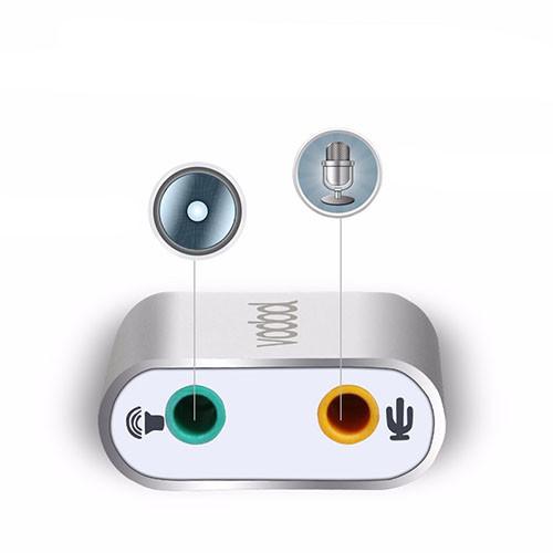Stereo audio zvukový adaptér USB - VODOOL detail