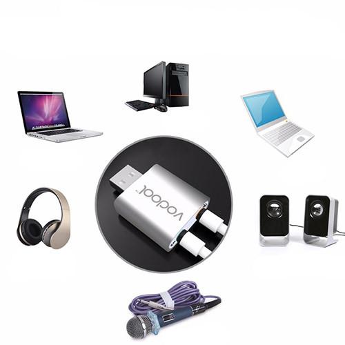 Stereo audio zvukový adaptér USB - VODOOL použití