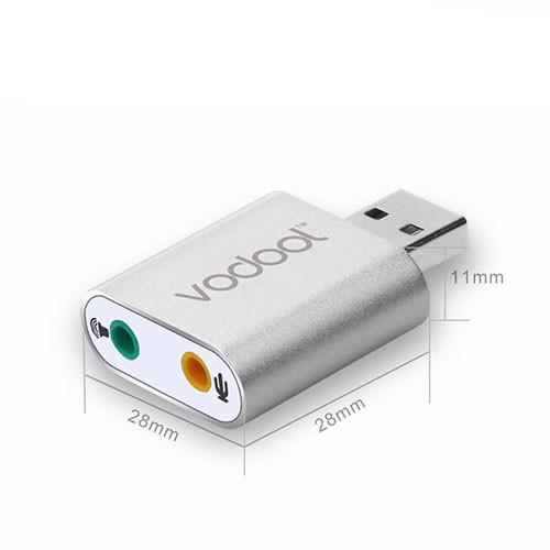 Stereo audio zvukový adaptér USB - VODOOL rozměry