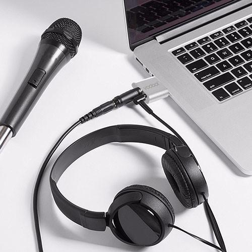Stereo audio zvukový adaptér USB - VODOOL - využití 2