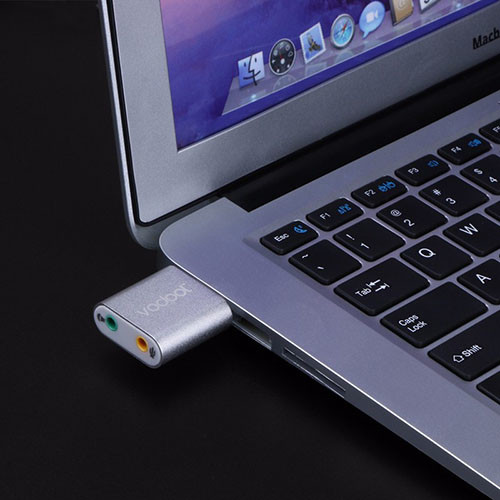 Stereo audio zvukový adaptér USB - VODOOL - využití