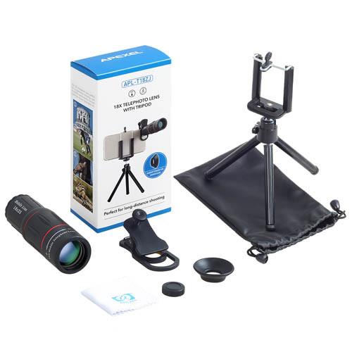 Teleskopický objektiv na mobil 18x zoom - obsah balení