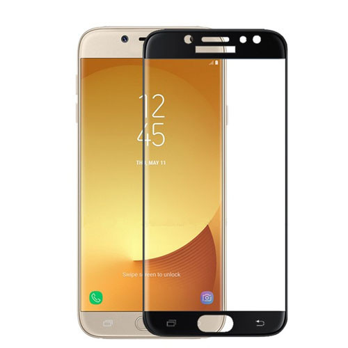 Tvrzené sklo na Samsung Galaxy J5 - 2017 s rámečkem černá barva