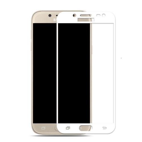 Tvrzené sklo na Samsung Galaxy J5 – 2017 s rámečkem bílá barva