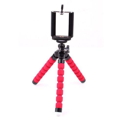 Univerzální stativ na mobil s dálkovým ovladačem - červený stativ
