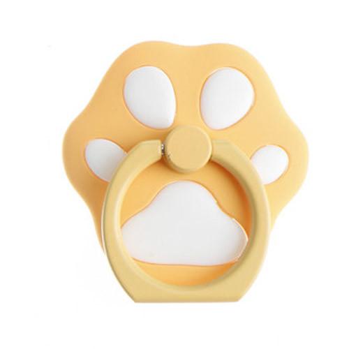 Ozdoba na mobil psí tlapka žlutá