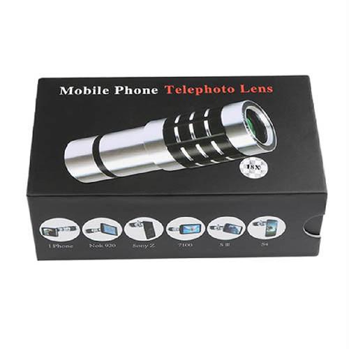 Teleskopický objektiv na mobil 18x zoom - set 2 krabička