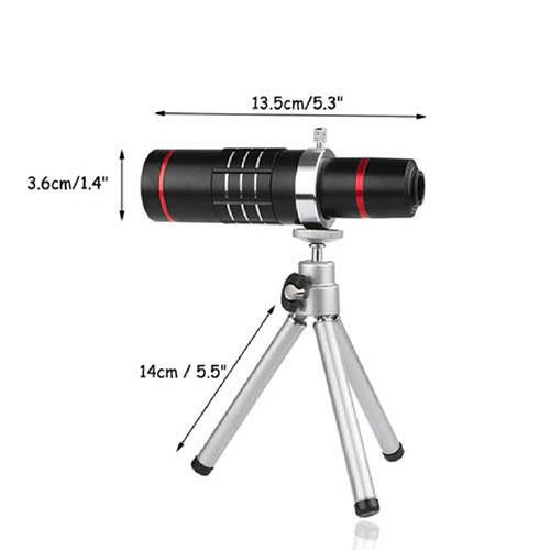 Teleskopický objektiv na mobil 18x zoom - set 2 rozměry