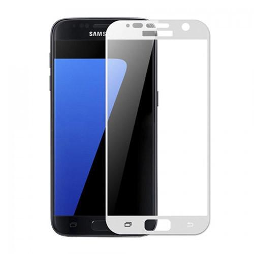 Tvrzené sklo Samsung S7 s rámečkem bílé