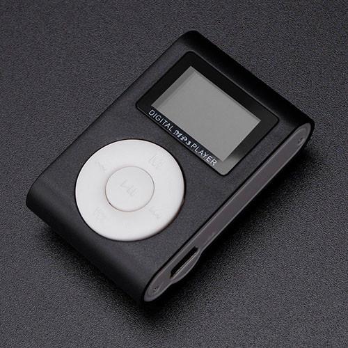 Mini MP3 přehrávač s displejem - černá 2