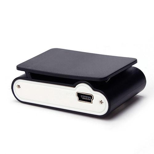 Mini MP3 přehrávač s displejem – černá spohní pohled
