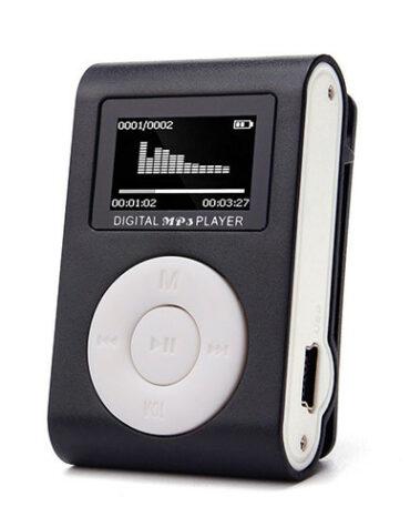 Mini MP3 přehrávač s displejem - černý