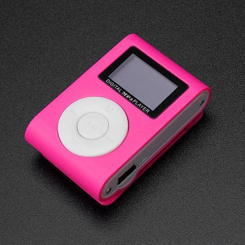 Mini MP3 přehrávač s displejem - růžová 2