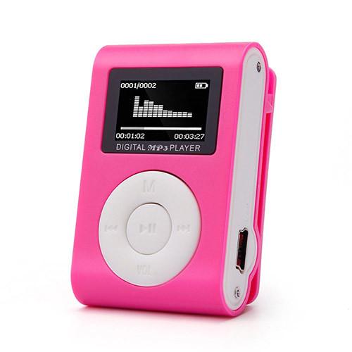 Mini MP3 přehrávač s displejem - růžová