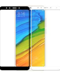 Tvrzené sklo na Xiaomi Redmi 5 - 9H - bílý a černý rámeček