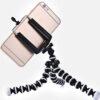 Flexibilní stativ na mobil – černý s mobilem