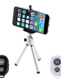 Stativ na mobil s dálkovým ovladačem FGC stříbrný - stativ s mobilem + ovladače