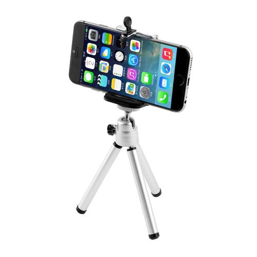 Stativ na mobil s dálkovým ovladačem FGC stříbrný – stativ s mobilem