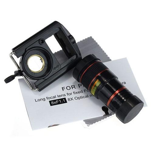 Teleskopický objektiv na mobil - 8x zoom - obsah balení