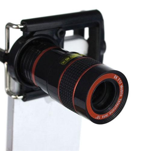 Teleskopický objektiv na mobil - 8x zoom přední pohled