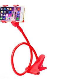 držák na mobil stolní - otočná hlava - červený 2