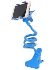 držák na mobil stolní - otočná hlava - modrý 2