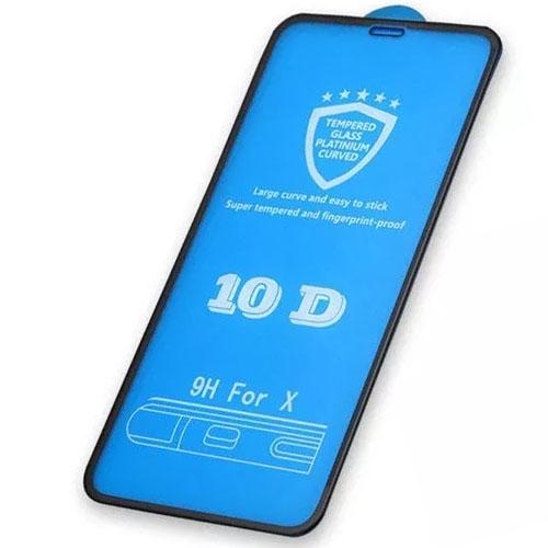 10D Tvrzené sklo na iPhone X s rámečkem tvrdost 9H