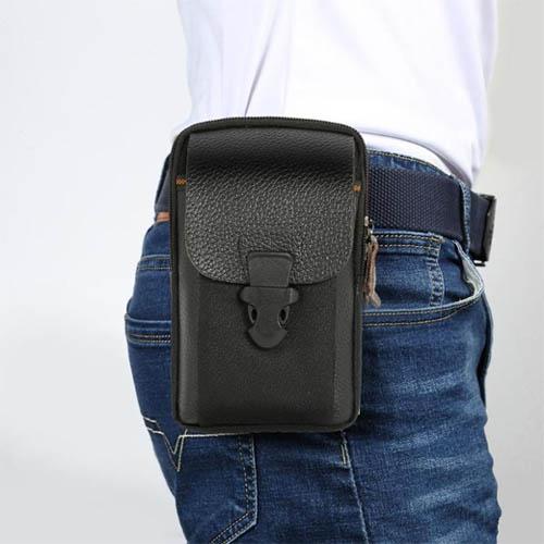 Pouzdro na opasek Zipper do 6 palcu černá