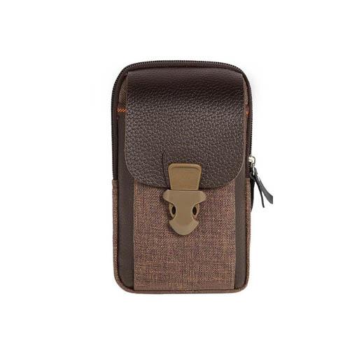 Pouzdro na opasek Zipper do 6 palcu hneda detail