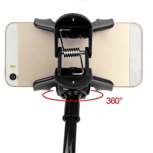 držák na mobil stolní - otočná hlava zadní pohled